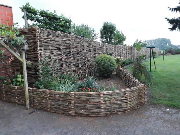 Wilgentenen schutting - pure ambacht in uw tuin