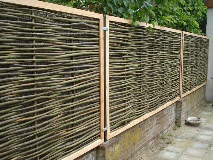 Woven willow fencing - The reason for choosing a willow fence